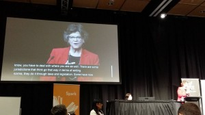 Kathy Browne @ Opening of NetHui