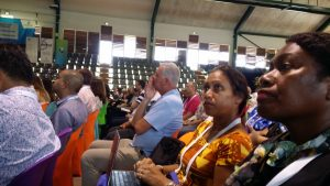 Pua and Dalsie at the opening ceremony of the PITA conference held on Rarotonga.