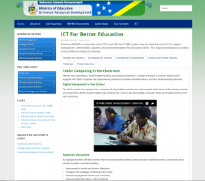 ICT for Better Education - Solomon Islands